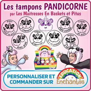 Tampons encreurs panda licorne