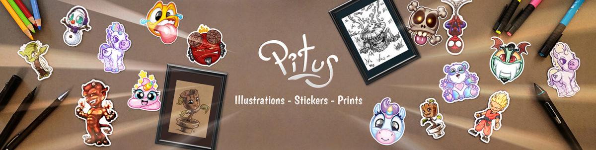 Banniere boutique ETSY produits originaux Pitus