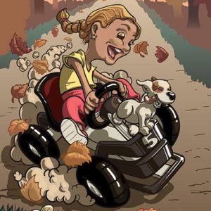 Illustration scène cartoon