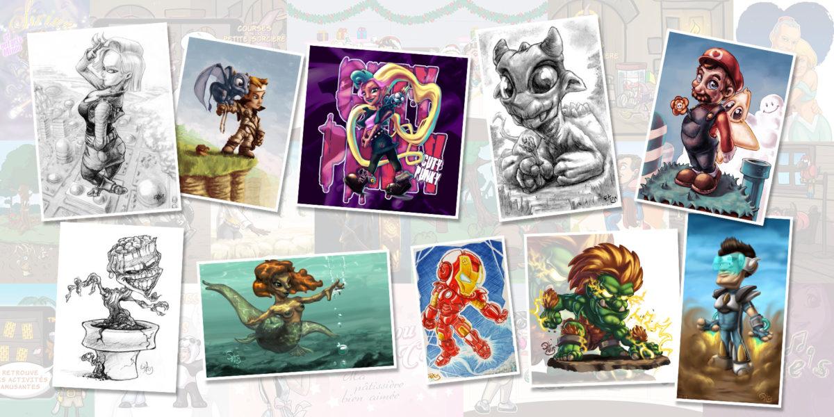illustrations originales par Pitus