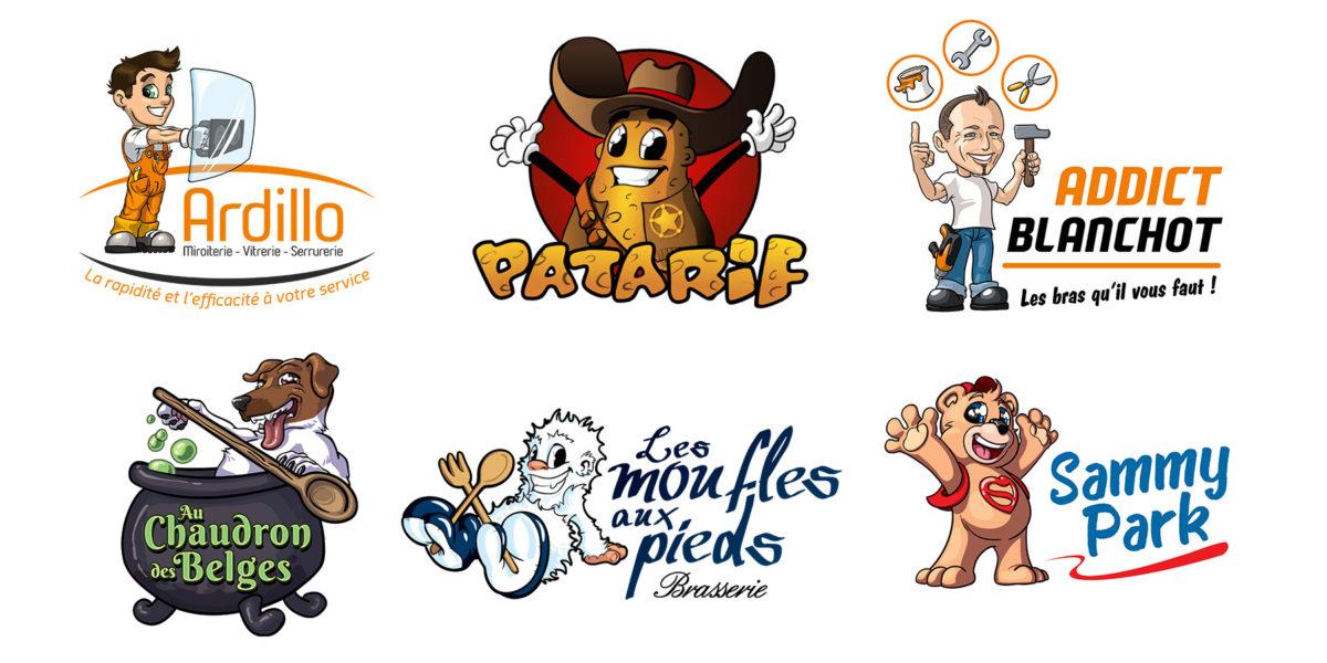 Exemples de logos avec mascotte