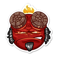 Stickers SPOPS Smiley demon hellboy