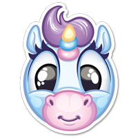 Stickers SPOPS Smiley licorne