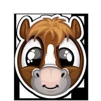 Stickers SPOPS Smiley poney