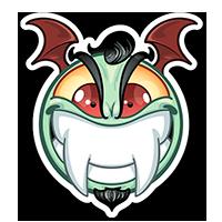 Stickers SPOPS Smiley vampire