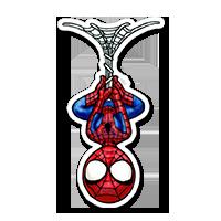 Sticker spiderman suspendu