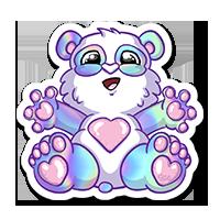 Stickers panda holographique
