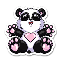 Stickers panda noir