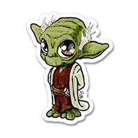 Sticker petit Yoda