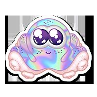 Stickers poulpe holographique