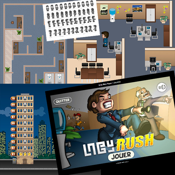 Illustrations de jeu mobile level design