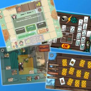Illustrations de jeux interactifs Pit & Pit