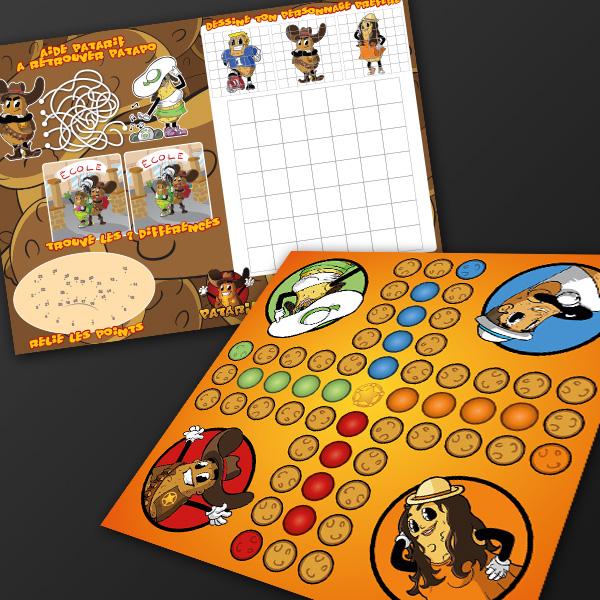 Illustrations de Jeux pour enfants set de table